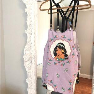 Princess Jasmine ALADDIN Suspender Overalls Dress